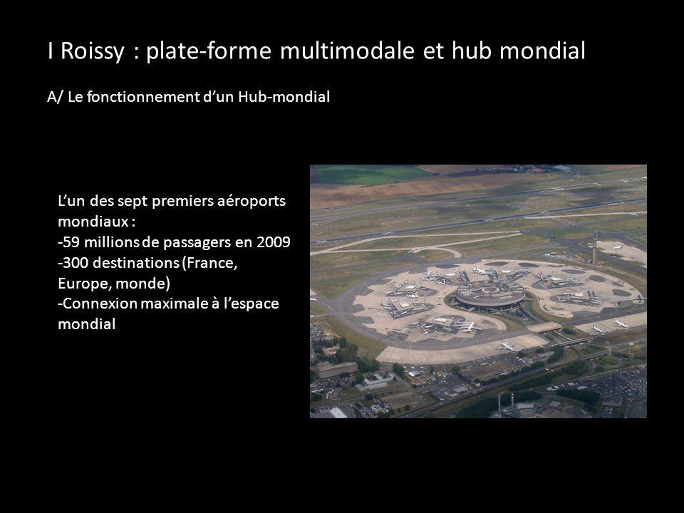 Roissy est une plate-forme de correspondance aéroportuaire.