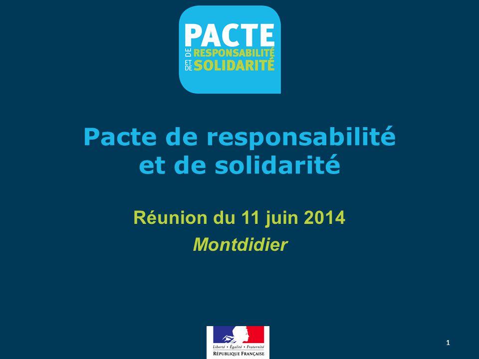Pacte de responsabilité et de solidarité Réunion du 11 juin 2014 Montdidier 1
