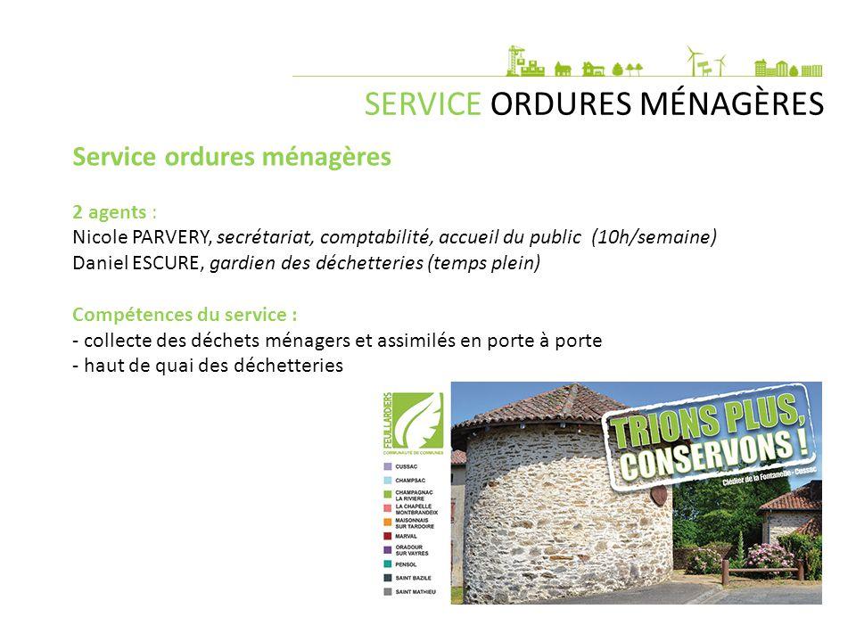 SERVICE ORDURES MÉNAGÈRES Budget : 800 000 €