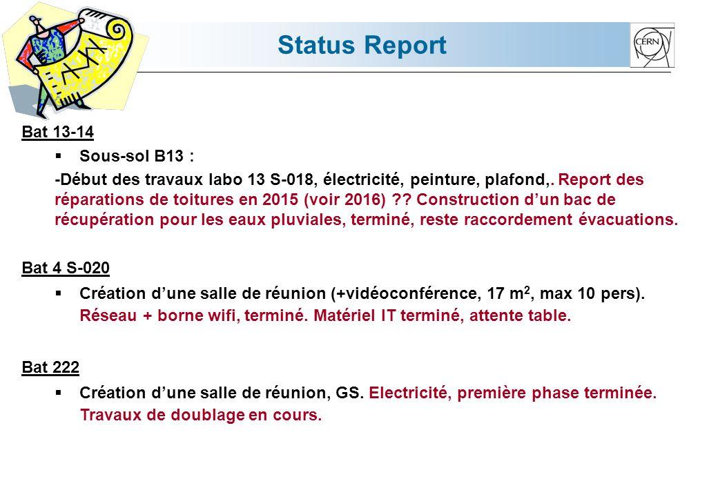 Status Report Bat 26 R-042  ISOLDE : Réhabilitation d'un labo.