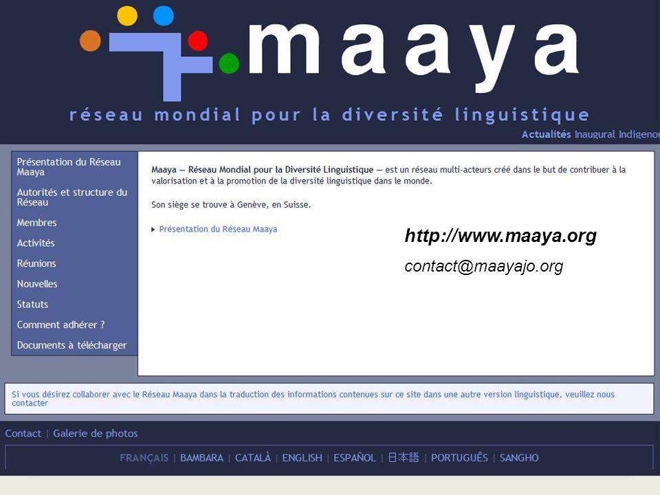 http://www.maaya.org contact@maayajo.org