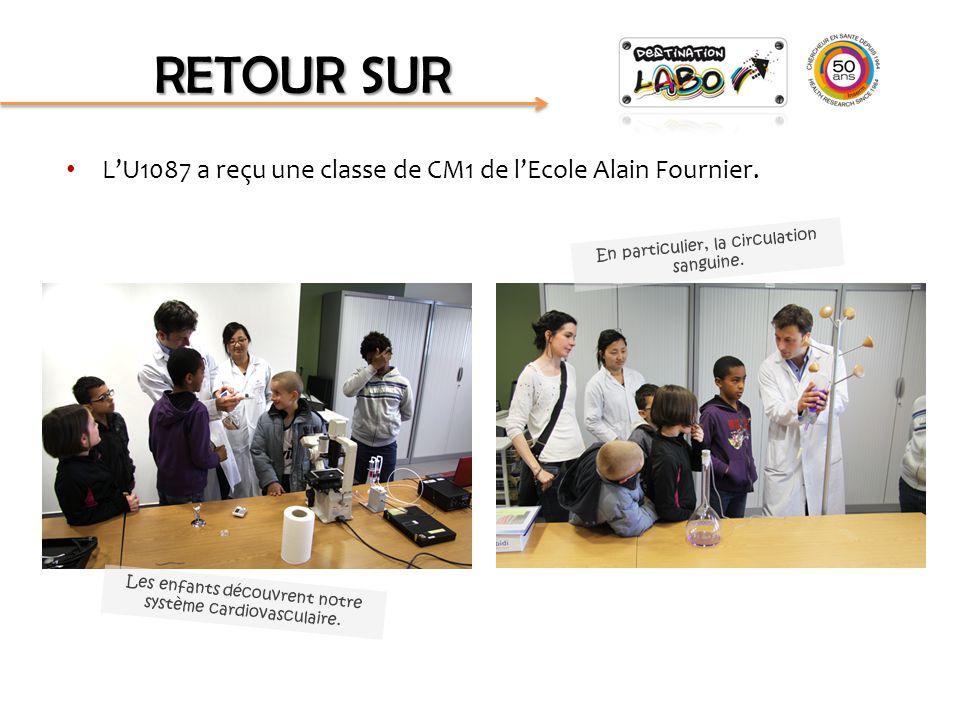 L'U1087 a reçu une classe de CM1 de l'Ecole Alain Fournier. RETOUR SUR Les enfants découvrent notre système cardiovasculaire. En particulier, la circu