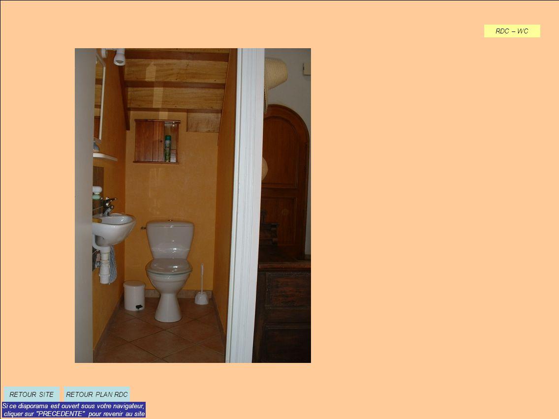 RDC – WC RETOUR PLAN RDCRETOUR SITE Si ce diaporama est ouvert sous votre navigateur, cliquer sur PRECEDENTE pour revenir au site
