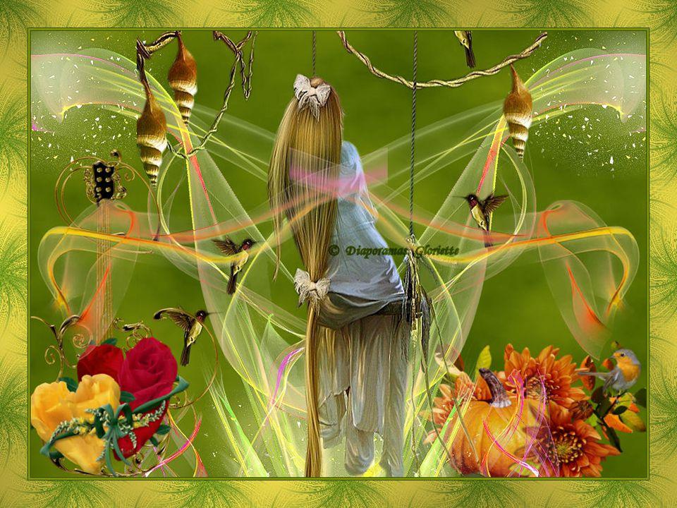 Des rubans de soie sur le temps présent Vivre sa vie sainement et avec confiance La vie est une extase à chaque instant Elle est fabuleuse prenons-en conscience.