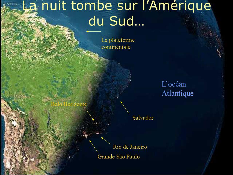 France Icelande Italie La plateforme continentale Le Royaume Uni AFRIQUE Ici il fait déjà nuit Espagne L'océan Atlantique Cap Verde Les Îles Canaries