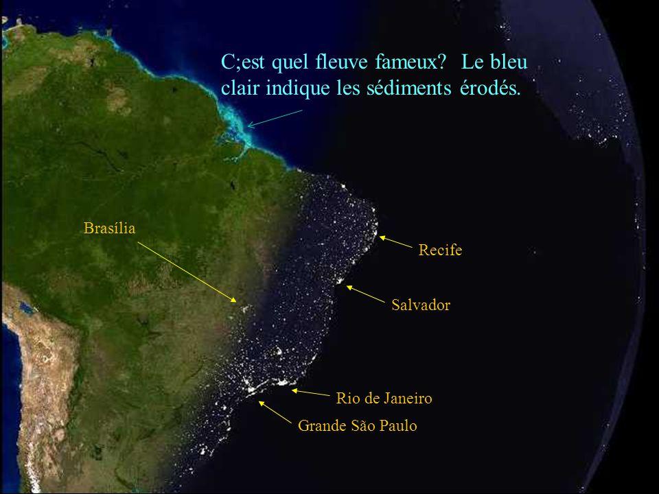 Grande São Paulo Rio de Janeiro Belo Horizonte Salvador L'océan Atlantique La plateforme continentale La nuit tombe sur l'Amérique du Sud…
