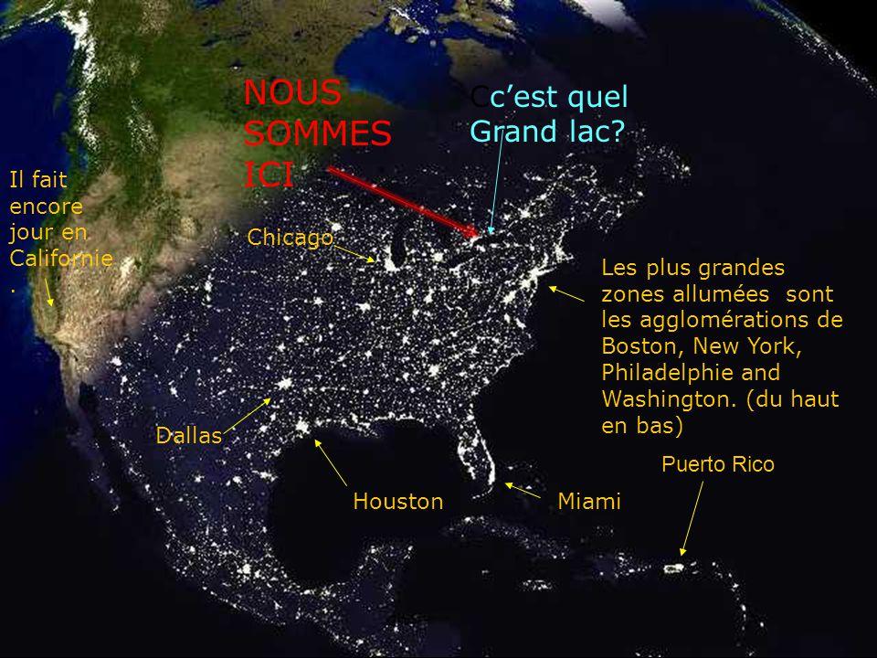 La nuit arrive sur l'Amérique du nord