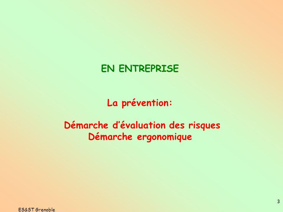 ES&ST Grenoble 2 PREVENTIF CORRECTIF CURATIF LA DEMARCHE PREVENTION INCIDENTAT M P ANALYSE A PRIORIANALYSE A POSTERIORI ANTICIPER...« mieux vaut préve