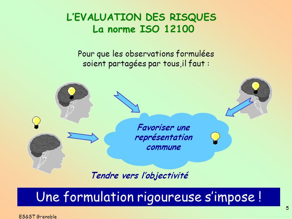 4 L'EVALUATION DES RISQUES UNE DÉMARCHE PARTICIPATIVE 3 - Evaluer les risques Grille d'évaluation 2 - Estimer les risques Echelle de gravité Echelle d