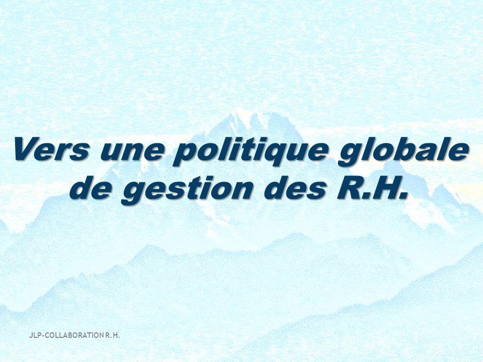 Vers une politique globale de gestion des R.H. JLP-COLLABORATION R.H.