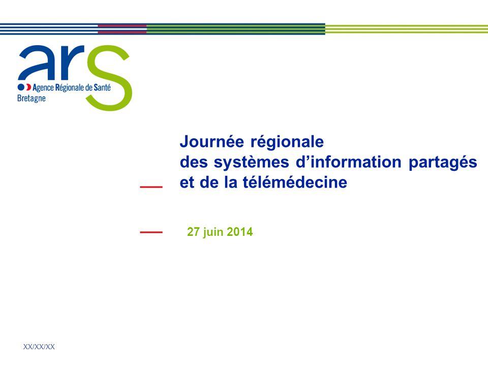 XX/XX/XX 27 juin 2014 Journée régionale des systèmes d'information partagés et de la télémédecine