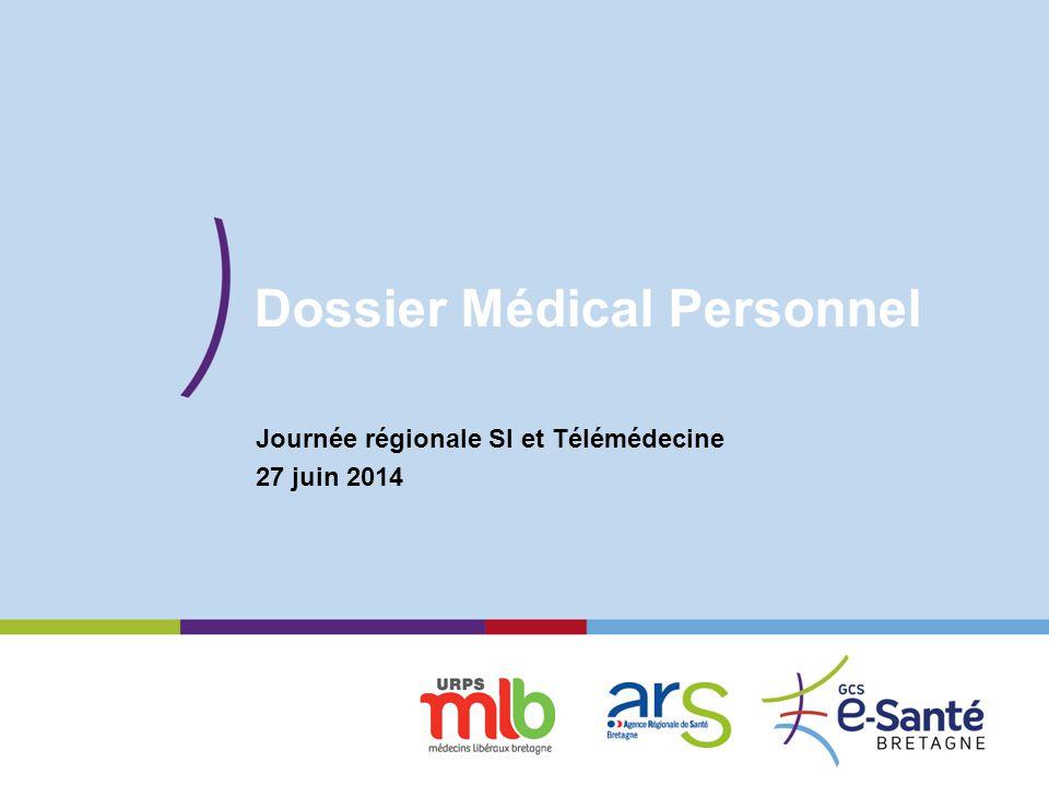 Présentation du GCS Dossier Médical Personnel Journée régionale SI et Télémédecine 27 juin 2014