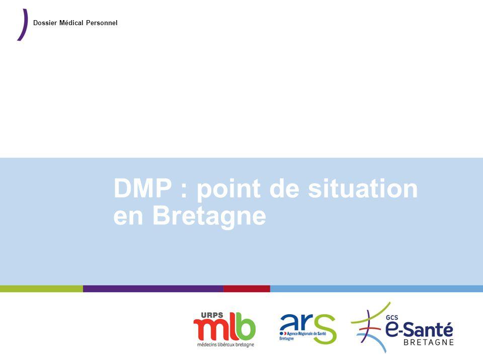 Présentation du GCS DMP : point de situation en Bretagne Dossier Médical Personnel