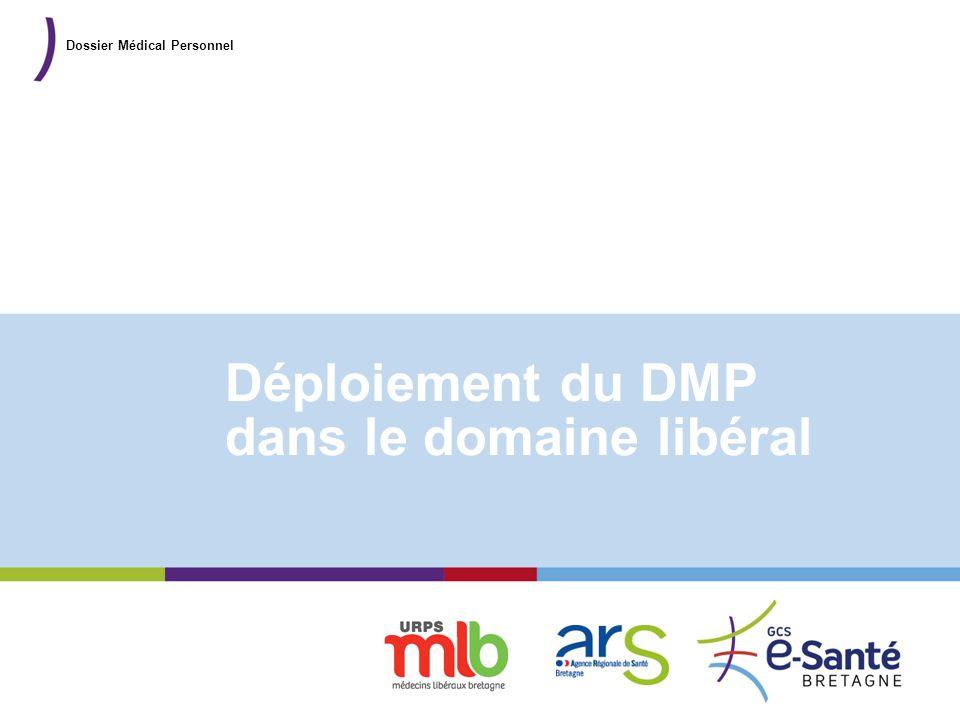 Présentation du GCS Déploiement du DMP dans le domaine libéral Dossier Médical Personnel