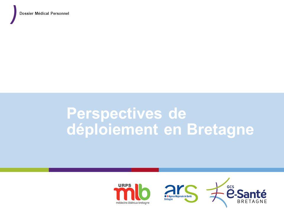 Présentation du GCS Perspectives de déploiement en Bretagne Dossier Médical Personnel