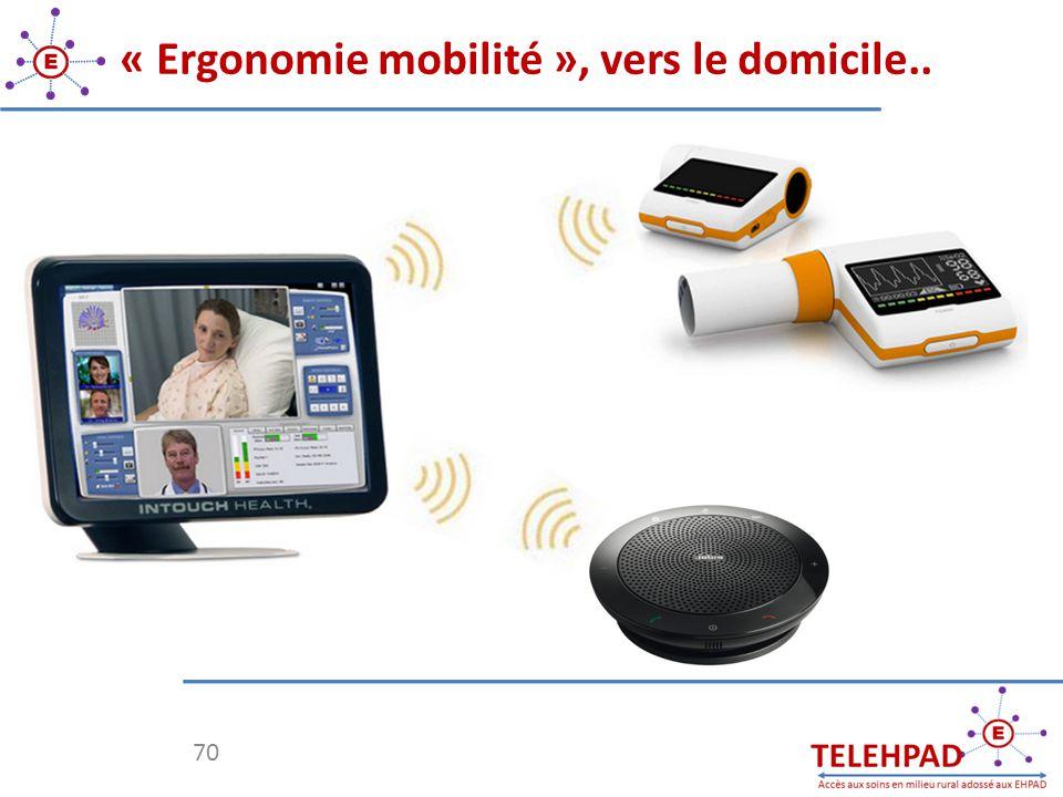 70 « Ergonomie mobilité », vers le domicile..