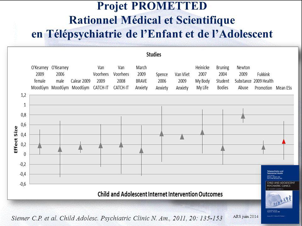 Projet PROMETTED Rationnel Médical et Scientifique en Télépsychiatrie de l'Enfant et de l'Adolescent Difficultés d'accès aux soins pour les population