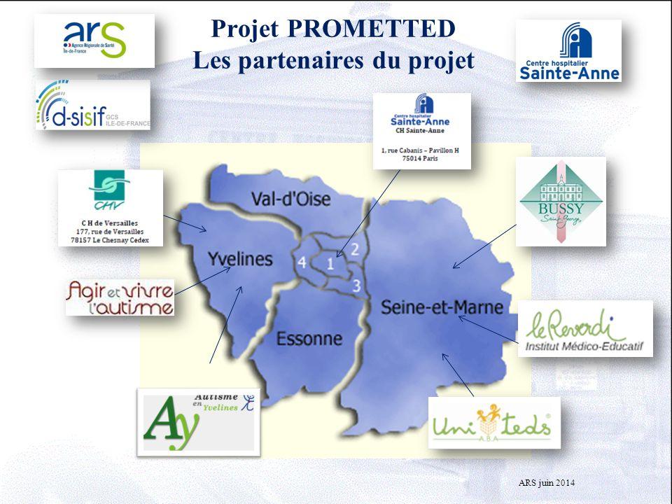 Projet PROMETTED Les partenaires du projet