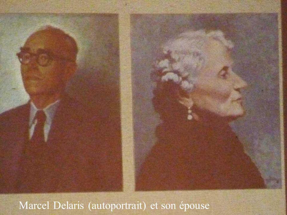 Marcel Delaris (autoportrait) et son épouse