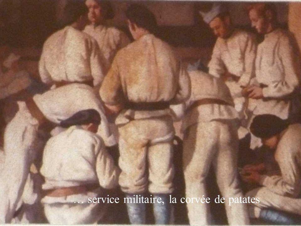 … service militaire, la corvée de patates