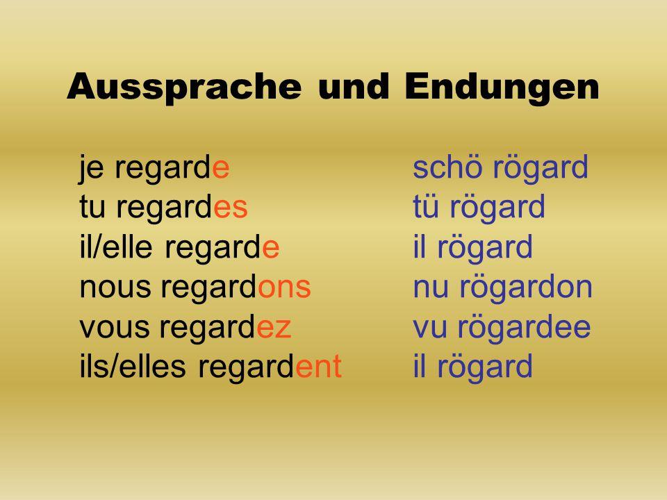 trouver (finden) je trouve tu trouves il/elle trouve nous trouvons vous trouvez ils/elles trouvent Befehlsform (impératif) Trouve.