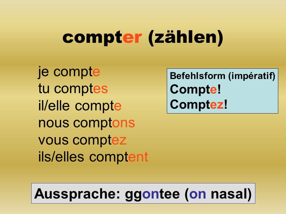 deviner (raten) je devine tu devines il/elle devine nous devinons vous devinez ils/elles devinent Befehlsform (impératif) Devine.