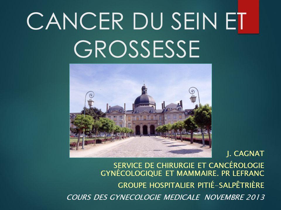 Références  Recommandations Cancer du sein et grossesse 2008 CNGOF  Recommandations Saint Paul de Vence 2011, Oncologie 2011  Amant et al.