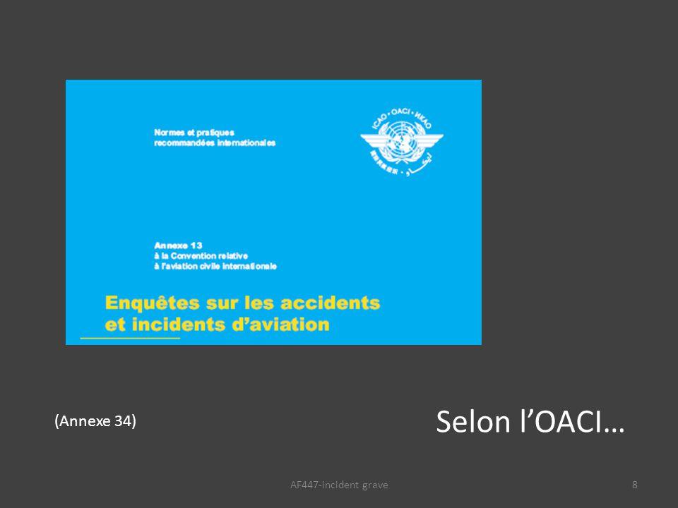 8 Selon l'OACI… (Annexe 34)