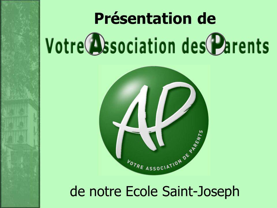 de notre Ecole Saint-Joseph Présentation de