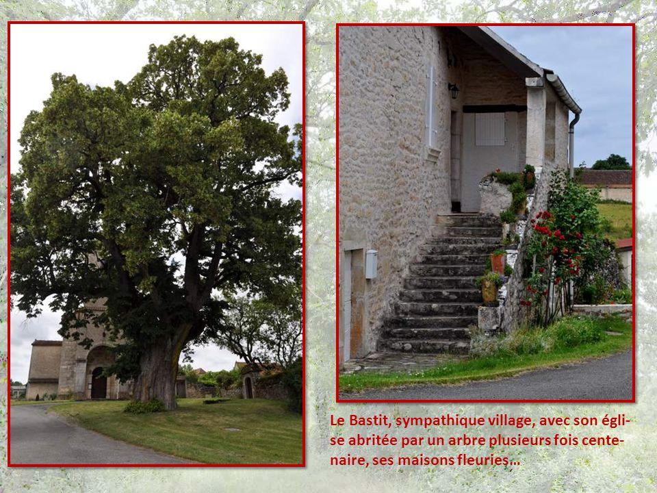 Le Bastit, sympathique village, avec son égli- se abritée par un arbre plusieurs fois cente- naire, ses maisons fleuries…