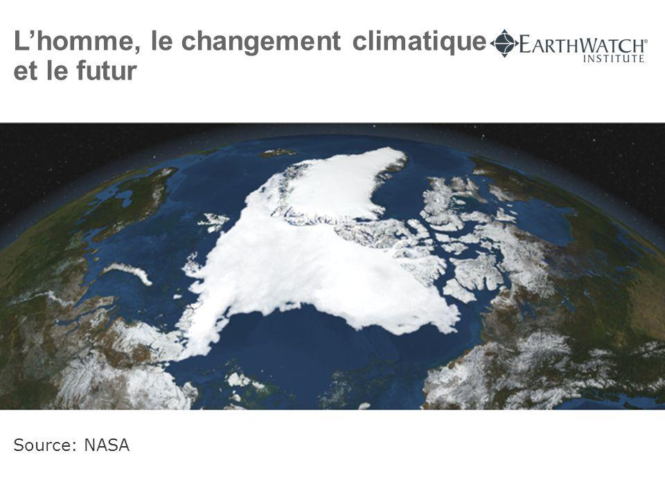 L'homme, le changement climatique et le futur Source: NASA