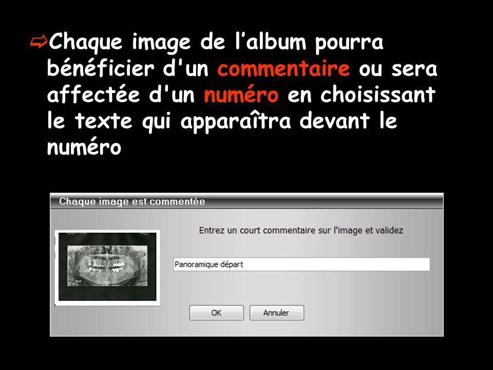 Onglet Album – Graver″  Il faudra choisir le répertoire dans lequel seront générées les pages de l'album  Clic sur l'ampoule jaune  Sinon message de rappel