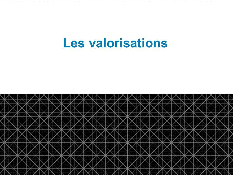 © DTCC 3 d Les valorisations