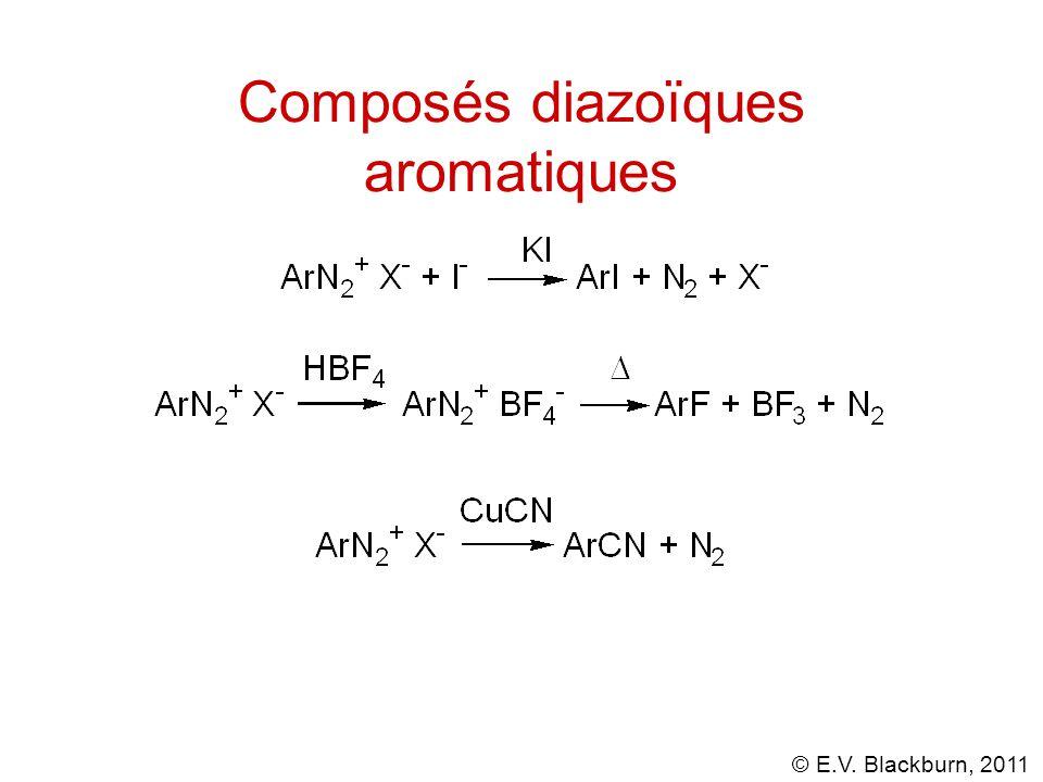 © E.V. Blackburn, 2011 Composés diazoïques aromatiques