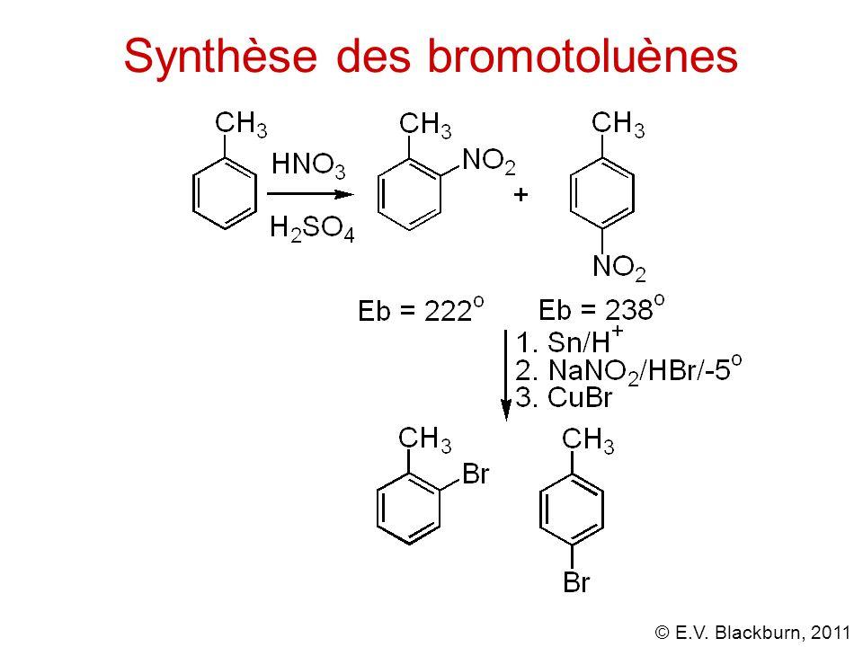 © E.V. Blackburn, 2011 Synthèse des bromotoluènes