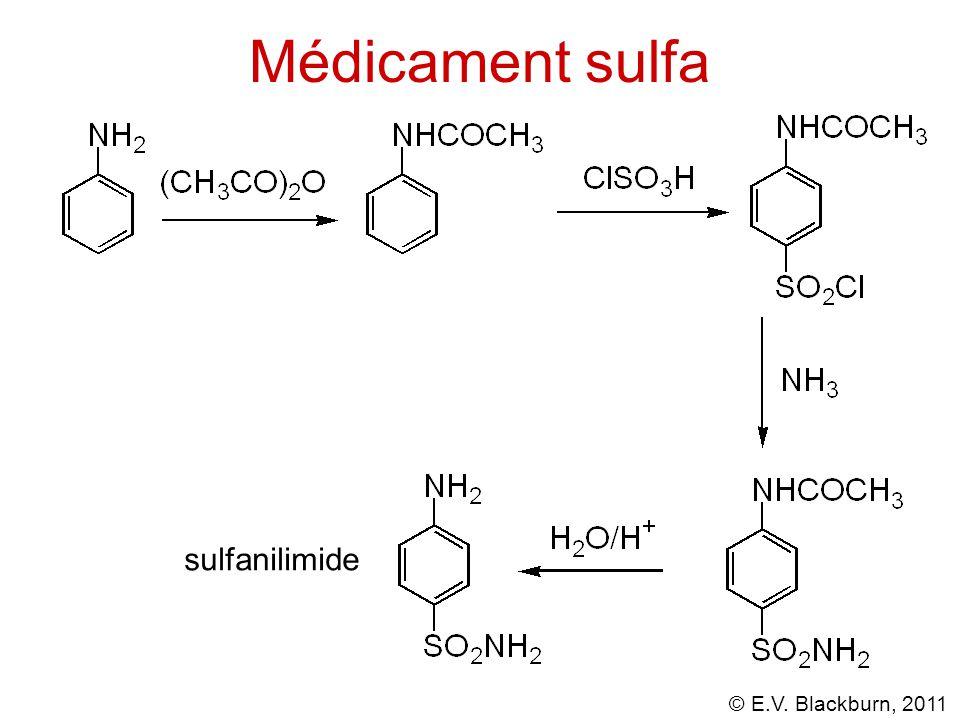 © E.V. Blackburn, 2011 Médicament sulfa sulfanilimide