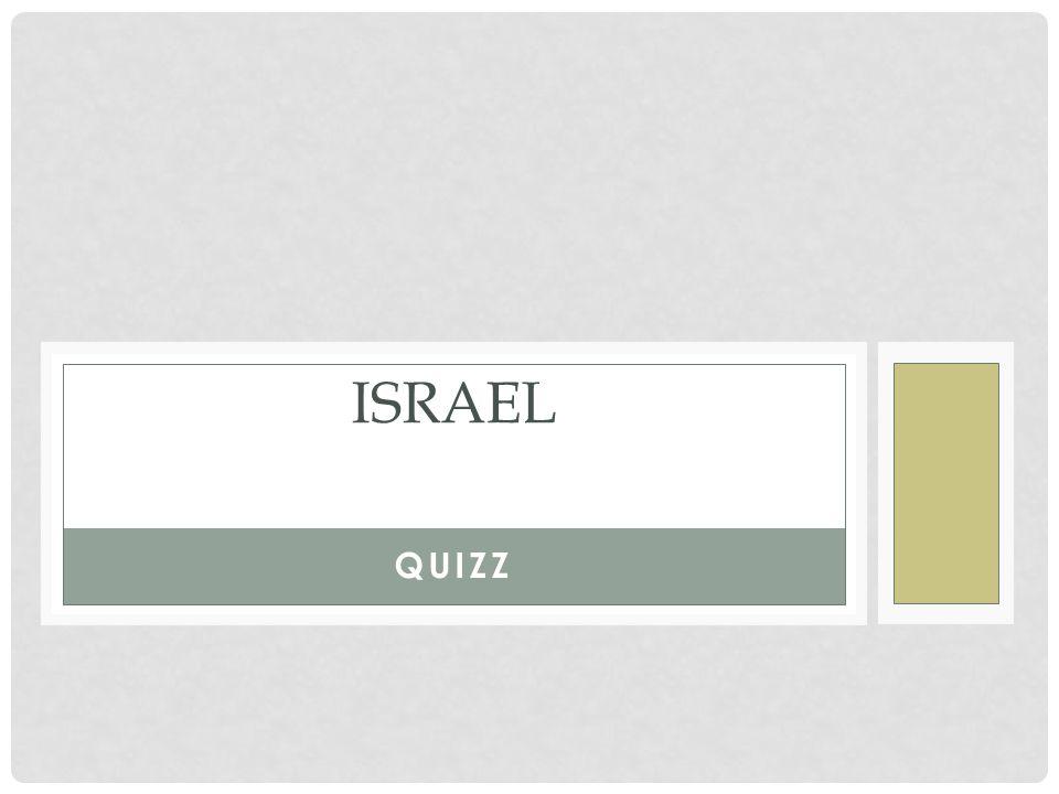 QUIZZ ISRAEL