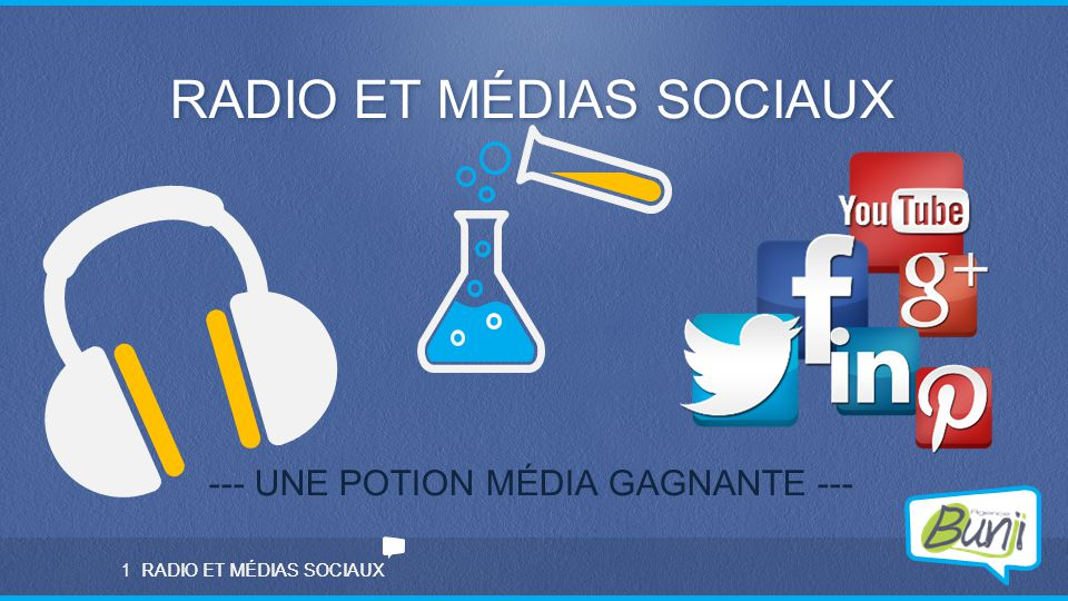 RADIO ET MÉDIAS SOCIAUX 1 --- UNE POTION MÉDIA GAGNANTE ---