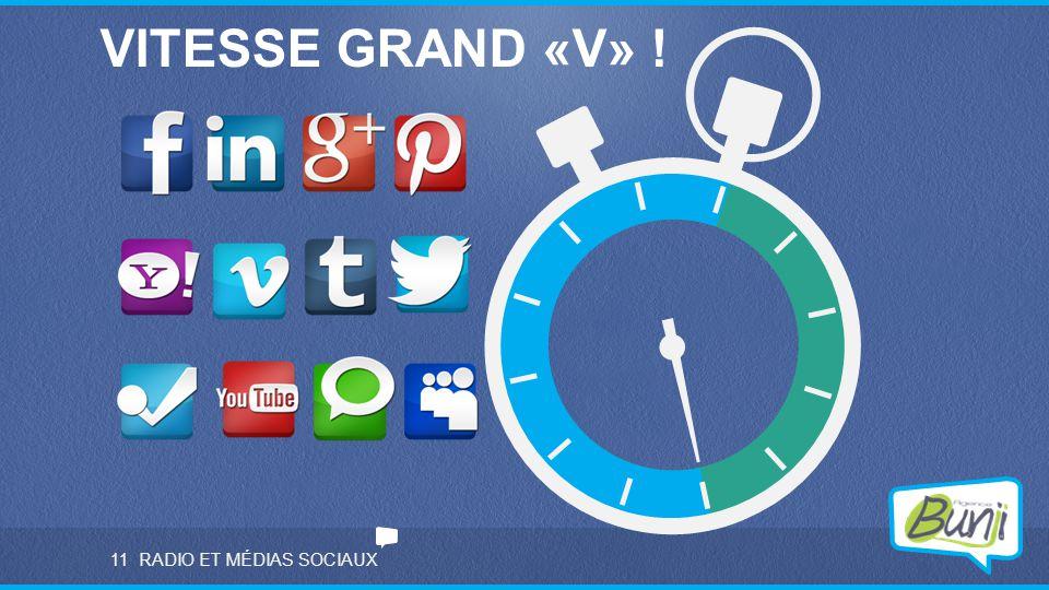 RADIO ET MÉDIAS SOCIAUX11 VITESSE GRAND «V» !