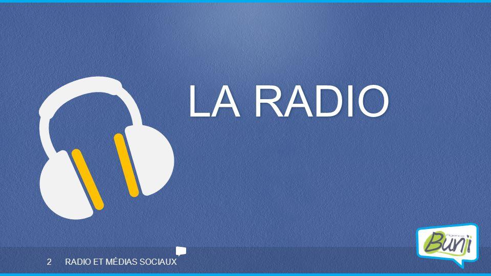 2 RADIO ET MÉDIAS SOCIAUX LA RADIO