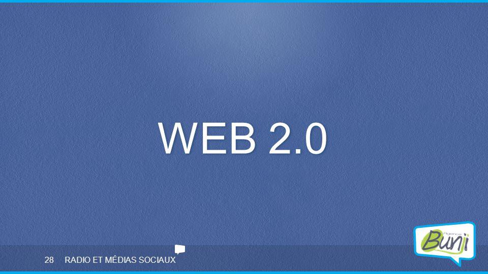 28 RADIO ET MÉDIAS SOCIAUX WEB 2.0