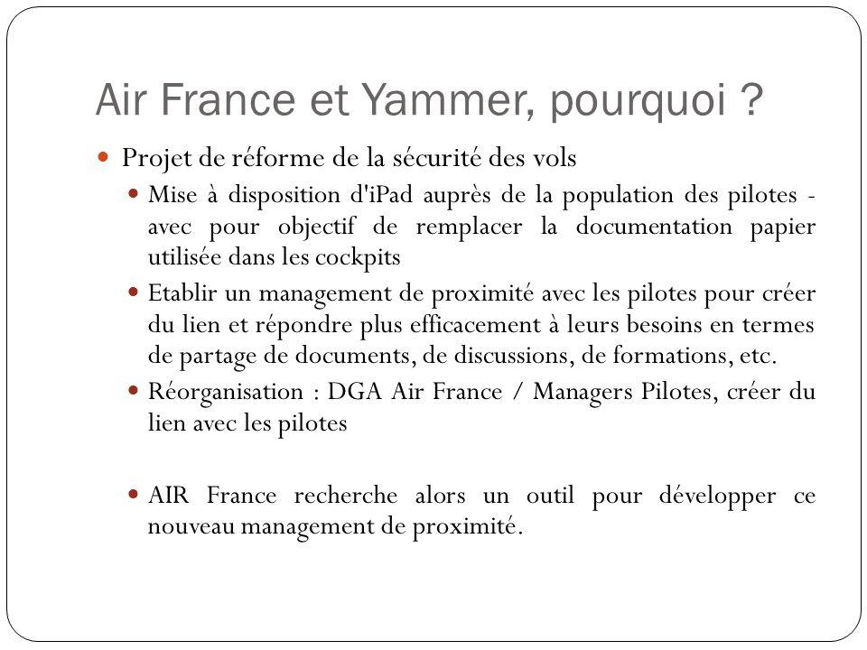 Air France et Yammer, pourquoi .