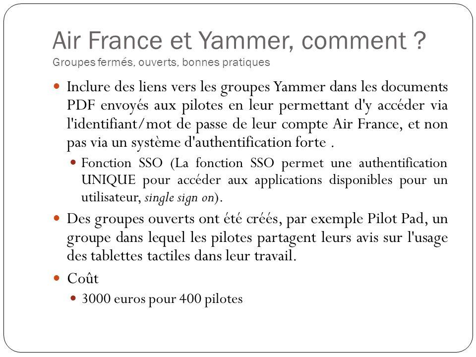 Air France et Yammer, comment .