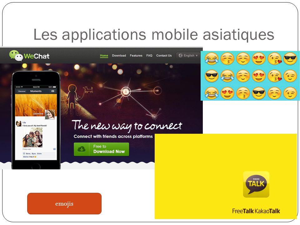 Les applications mobile asiatiques emojis
