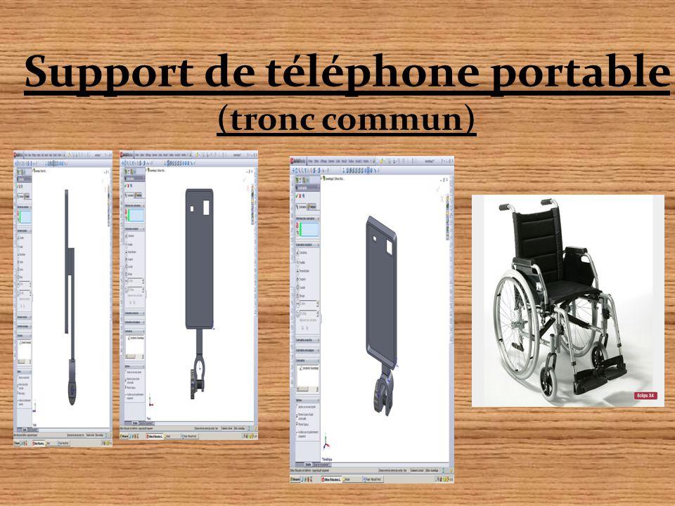 Support de téléphone portable (tronc commun)