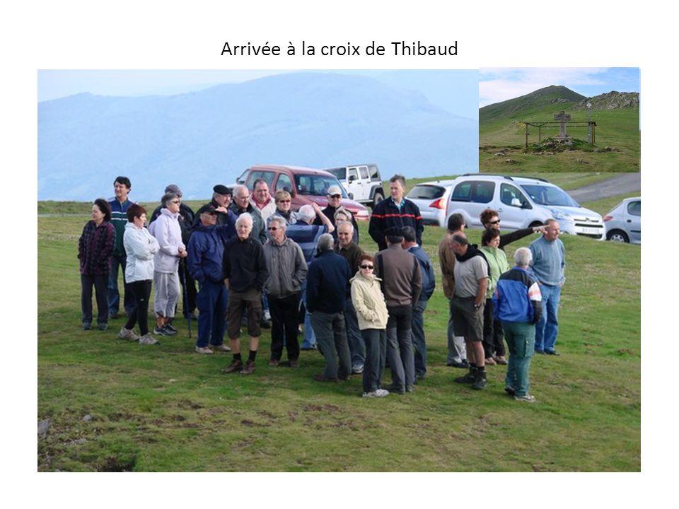 Arrivée à la croix de Thibaud