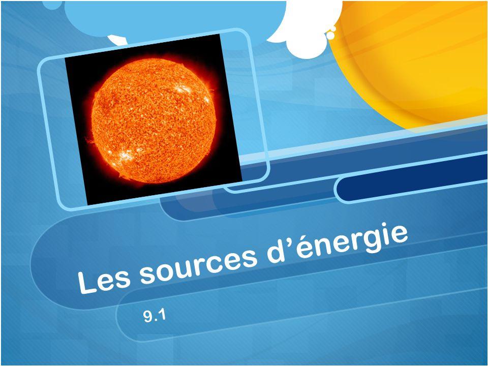Les sources d'énergie 9.1