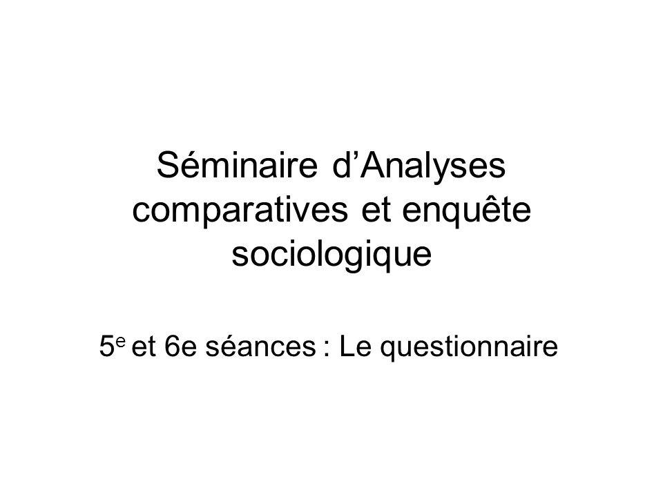 Rappel bibliographique : Rodolphe Ghiglione et Benjamin Matalon (1978), Les enquêtes sociologiques.