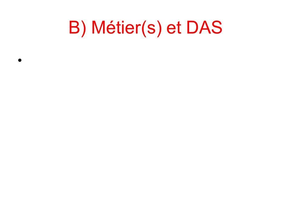 B) Métier(s) et DAS