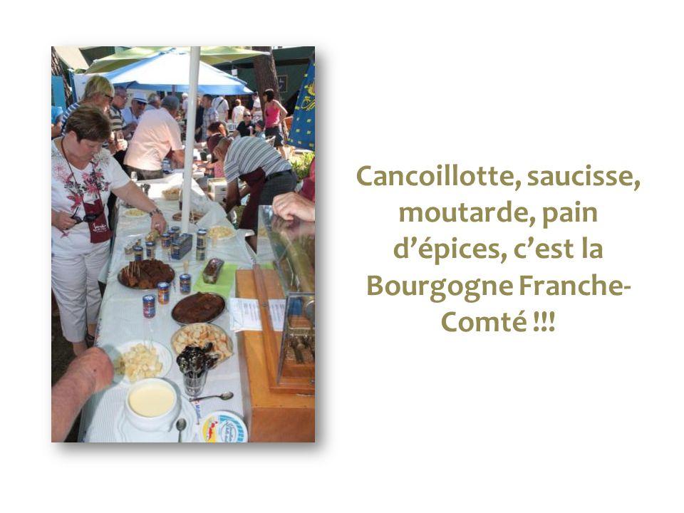 Cancoillotte, saucisse, moutarde, pain d'épices, c'est la Bourgogne Franche- Comté !!!